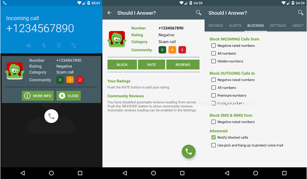 Block a Phone Number on Android with Should I Answer App