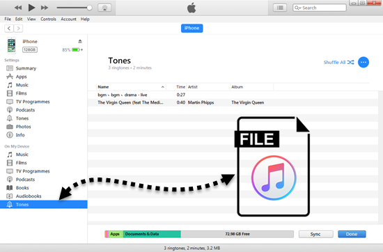 Make Ringtone for iPhone Using iTunes 12.7