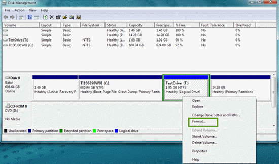 How to Format a Hard Drive for Windows with Disk Manager