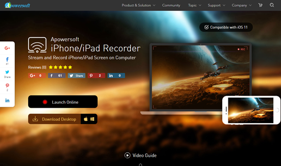 iPhone/iPad Recorder is one of Top 5 iOS Mirror Apps to Wireless Stream Your iPhone/iPad Display