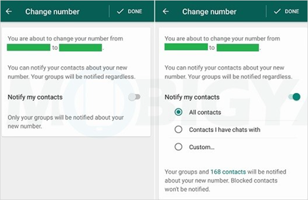 Change Your Phone Number On WhatsApp