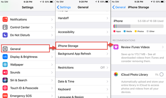 Check Your iPhone Storage