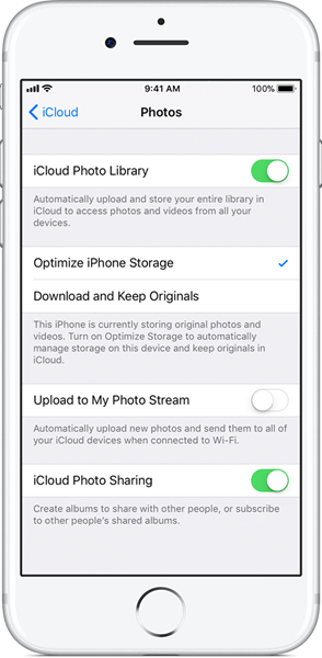 Stop iCloud Photo Library Service