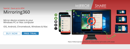 Mirroring360 is one of Top 5 iOS Mirror Apps to Wireless Stream Your iPhone/iPad Display