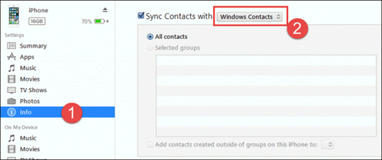 How to Print Contacts with iTunes Syncing