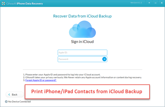 How to Print Contacts from iPhone Backups