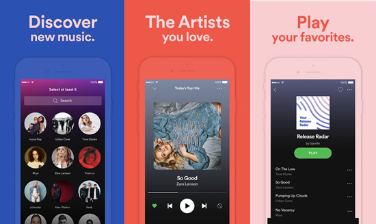 Spotify is one of the Best iOS Apps to Download Music Tracks with iPhone.
