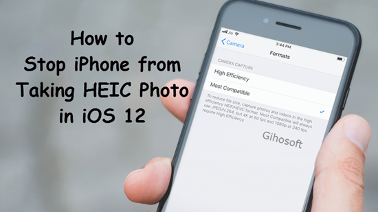 stop iPhone from taking photos in HEIC in iOS 12
