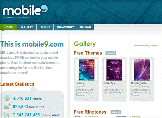 Mobile9.com is one of the top 5 Legal Websites to Download Free Ringtones for iPhone 2019.