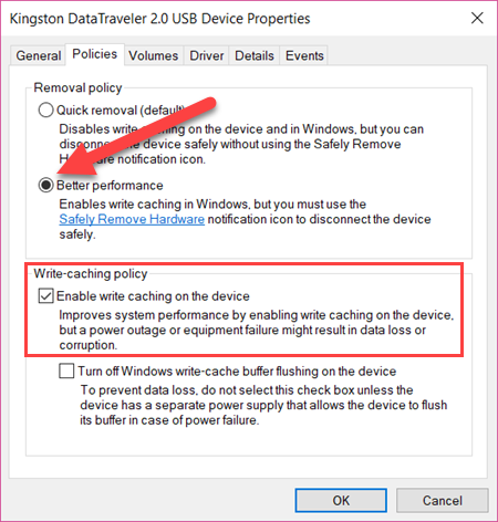 Fix Slow USB Drive Transfer Speeds with Write Caching