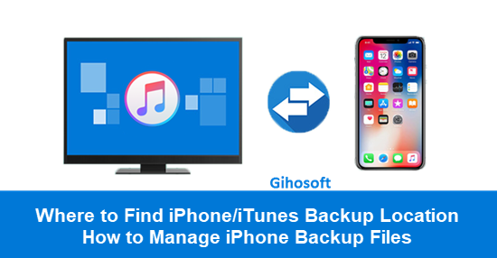 Find iTunes Backup Location.