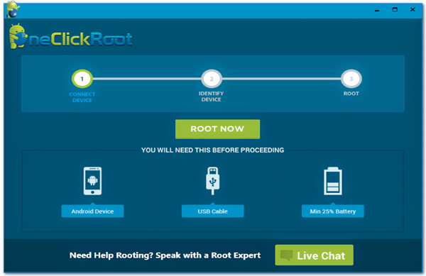 One Click Root is one of the Top 5 Best Free Rooting Apps for Android Phone or Tablet.