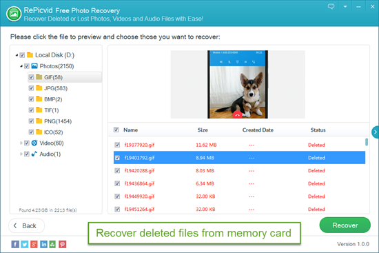 Recover Deleted Files from Memory Card.