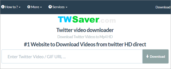 save twitter video mp4 online