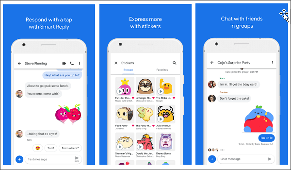 Android Messages is one of the top 10 Best Free Android Messages Apps.