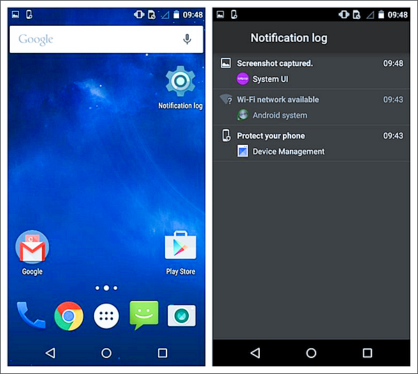 Using Android Notifications History
