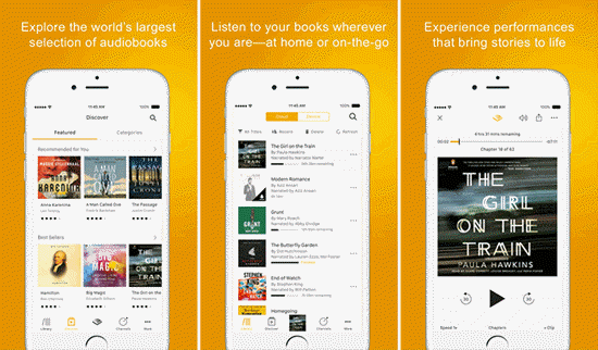 Audiobooks from Audible is one of the best Free Audiobook Apps for Your iPhone in 2019.