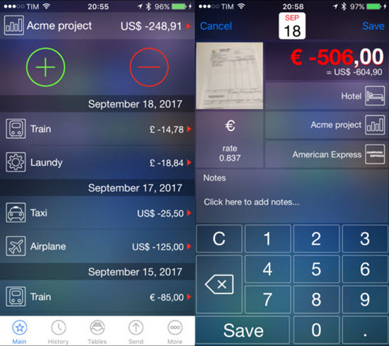 Live Expenses is one of the Top 10 Budget and Expense Tracking Apps for iPhone.