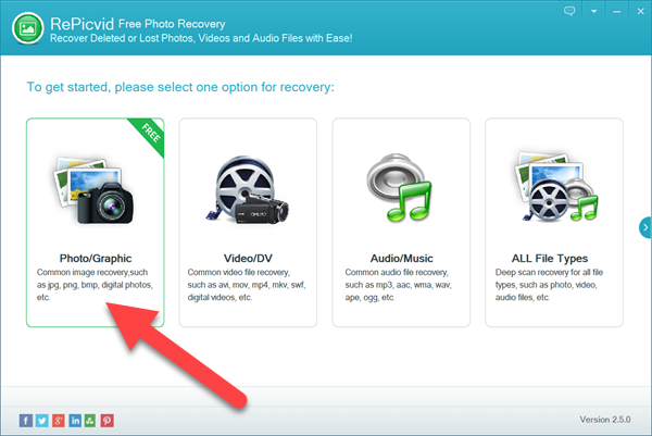 Choose Free Fujifilm Photo/Graphic Recovery