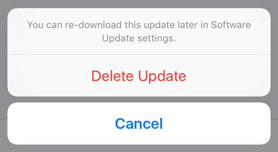 Steps to Delete the Downloaded iOS Update on iPhone/iPad