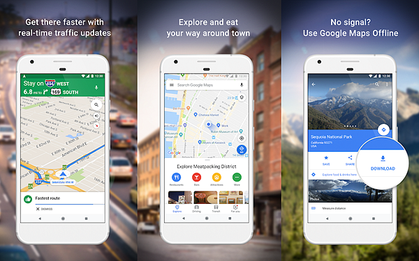 Google Maps is one fo the best Free Offline GPS and Map Apps for Android.
