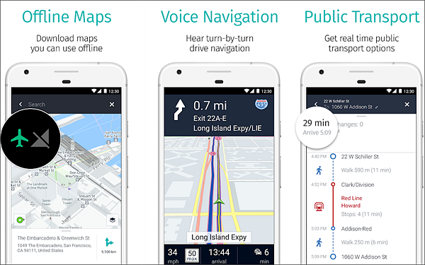 HERE WeGo - Offline Maps & GPS is one fo the best Free Offline GPS and Map Apps for Android.