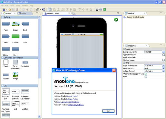 MobiOne Studio is one of the 6 Best iOS Emulator For Windows.