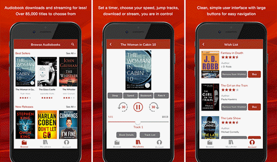 Audio Books is one of the best Free Audiobook Apps for Your iPhone in 2019.