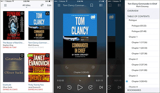 OverDrive is one of the best Free Audiobook Apps for Your iPhone in 2019.