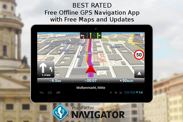 MapFactor GPS Navigation is one fo the best Free Offline GPS and Map Apps for Android.