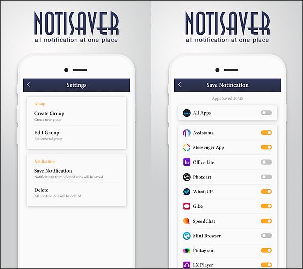 Using Notisaver : Notification History