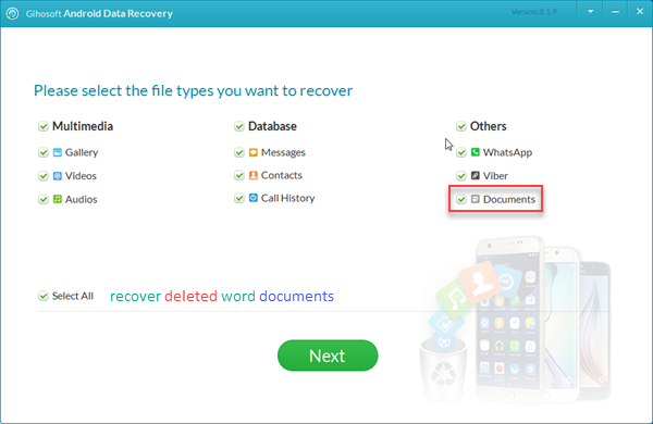 Recover Deleted Word Documents from Android