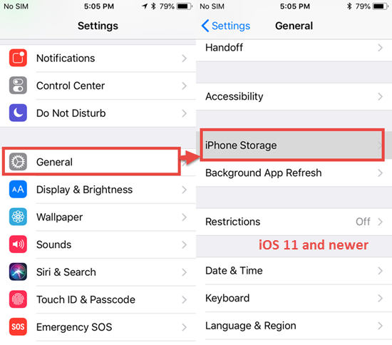 Delete the Downloaded iOS Update on iPhone/iPad (iOS 12)