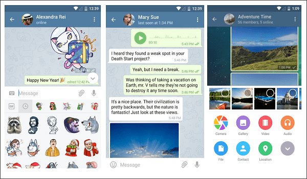 Telegram is one of the top 10 Best Free Android Messages Apps.