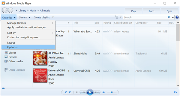 Steps on how to free convert WAV to MP3 using Windows Media Player