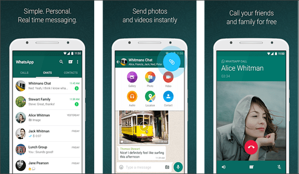 WhatsApp Messenger is one of the top 10 Best Free Android Messages Apps.