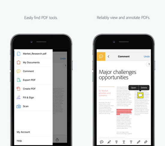 Adobe Acrobat Reader is one of the top Best PDF Reader & Editor Apps for iOS.