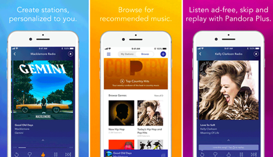 Pandora Radio is one of the top Best Music Apps for Apple Watch.