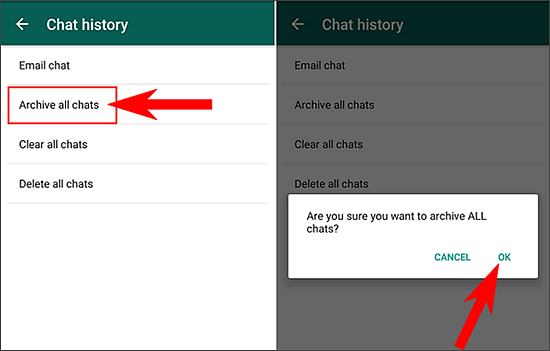 Archive all chats on Android