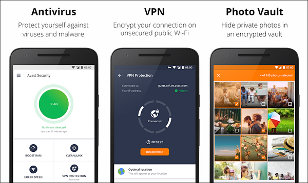 Avast Mobile Security 2018 is one of the best Free Security Apps for Android Virus Protection.