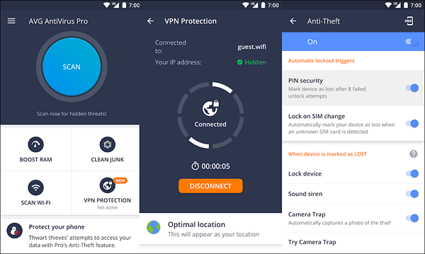 AVG AntiVirus 2018 for Android Security is one of the best Free Security Apps for Android Virus Protection.