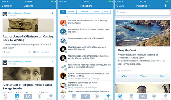 WordPress is best Blogger Apps for iPhone and iPad.
