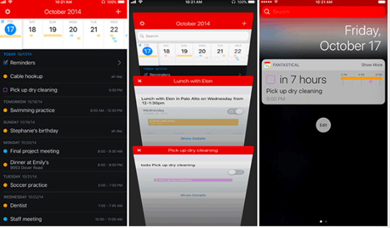 Fantastical 2 - 4.4/1.4K #5 is best Calendar Apps for iPhone.