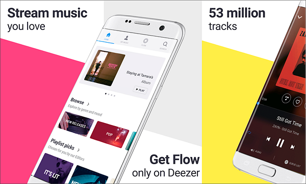 Deezer Music Player is one of the best Offline Music Apps for Android.