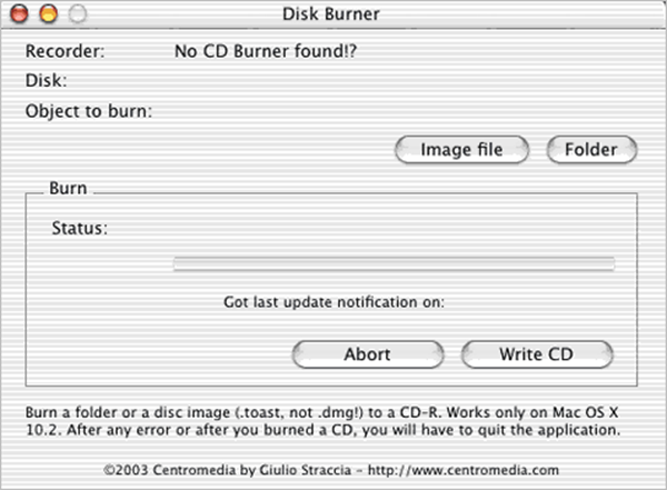 Disk Burner is one of the best Free DVD Burner for Mac.