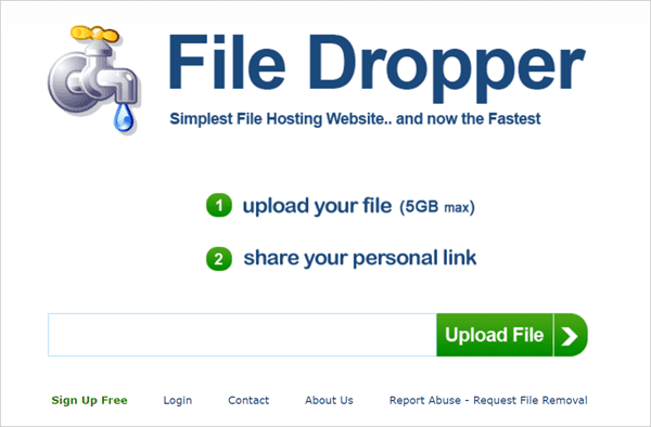 File Dropper is one of the top Best Free File Sharing Sites to Share Large Files Online.