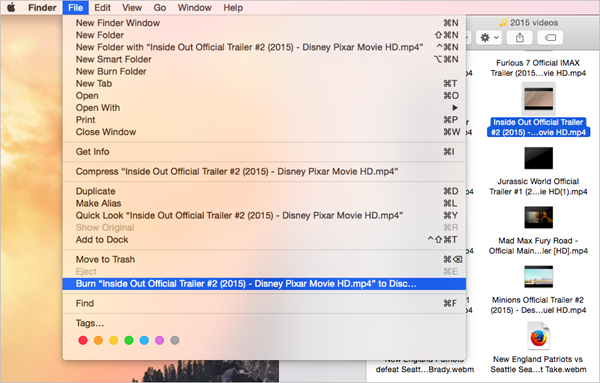 Finder is one of the best Free DVD Burner for Mac.