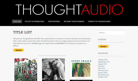 Get Audiobooks for iPhone/iPad with Thought Audio.