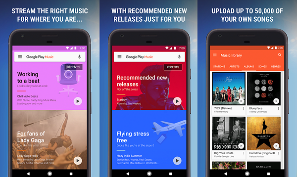 Google Play Music is one of the best Offline Music Apps for Android.