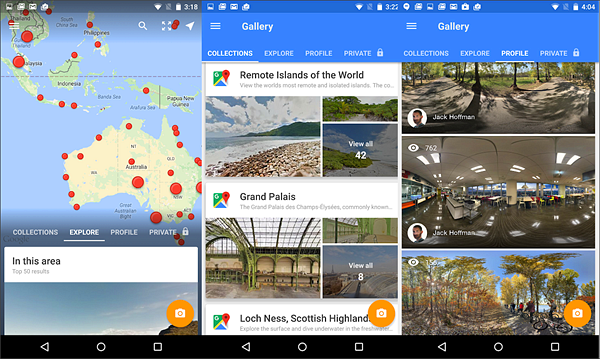 Google Street View is best 360 Degree Camera Apps for Android.